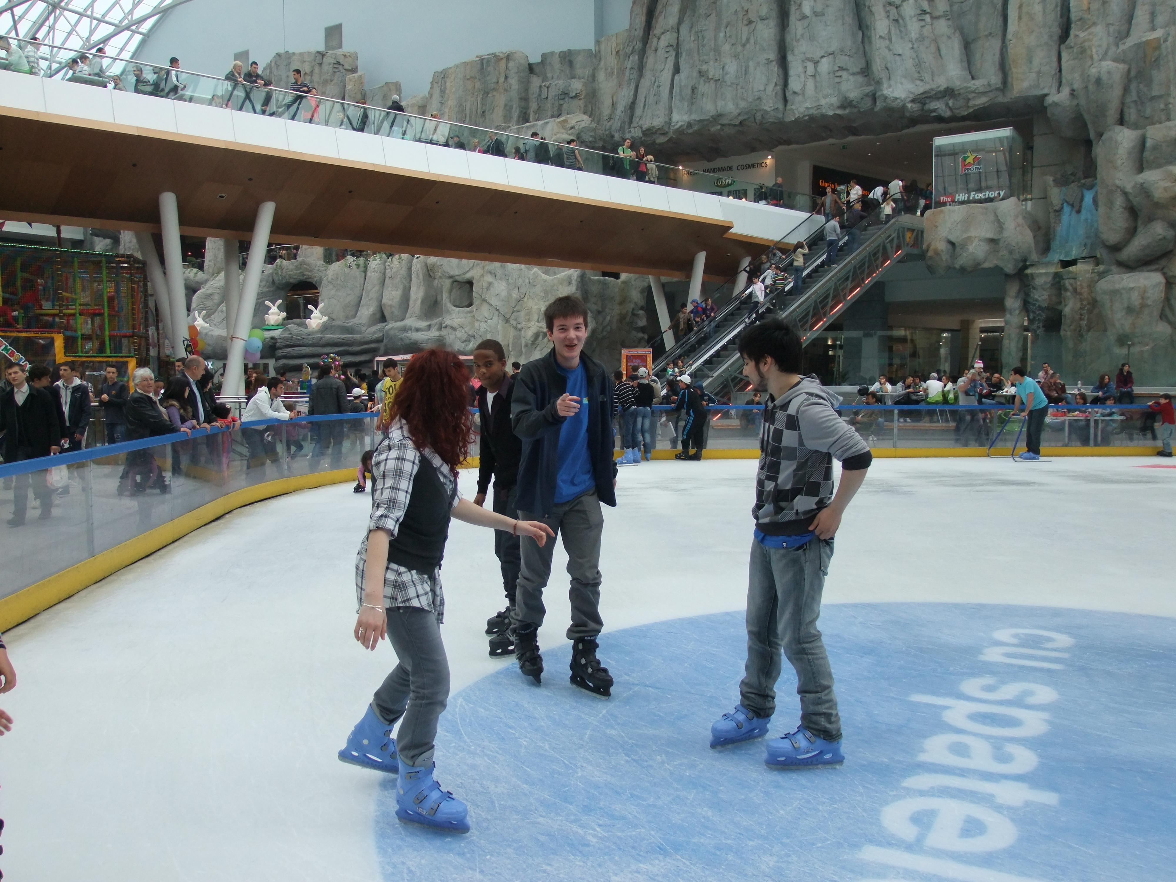 Me ice skating