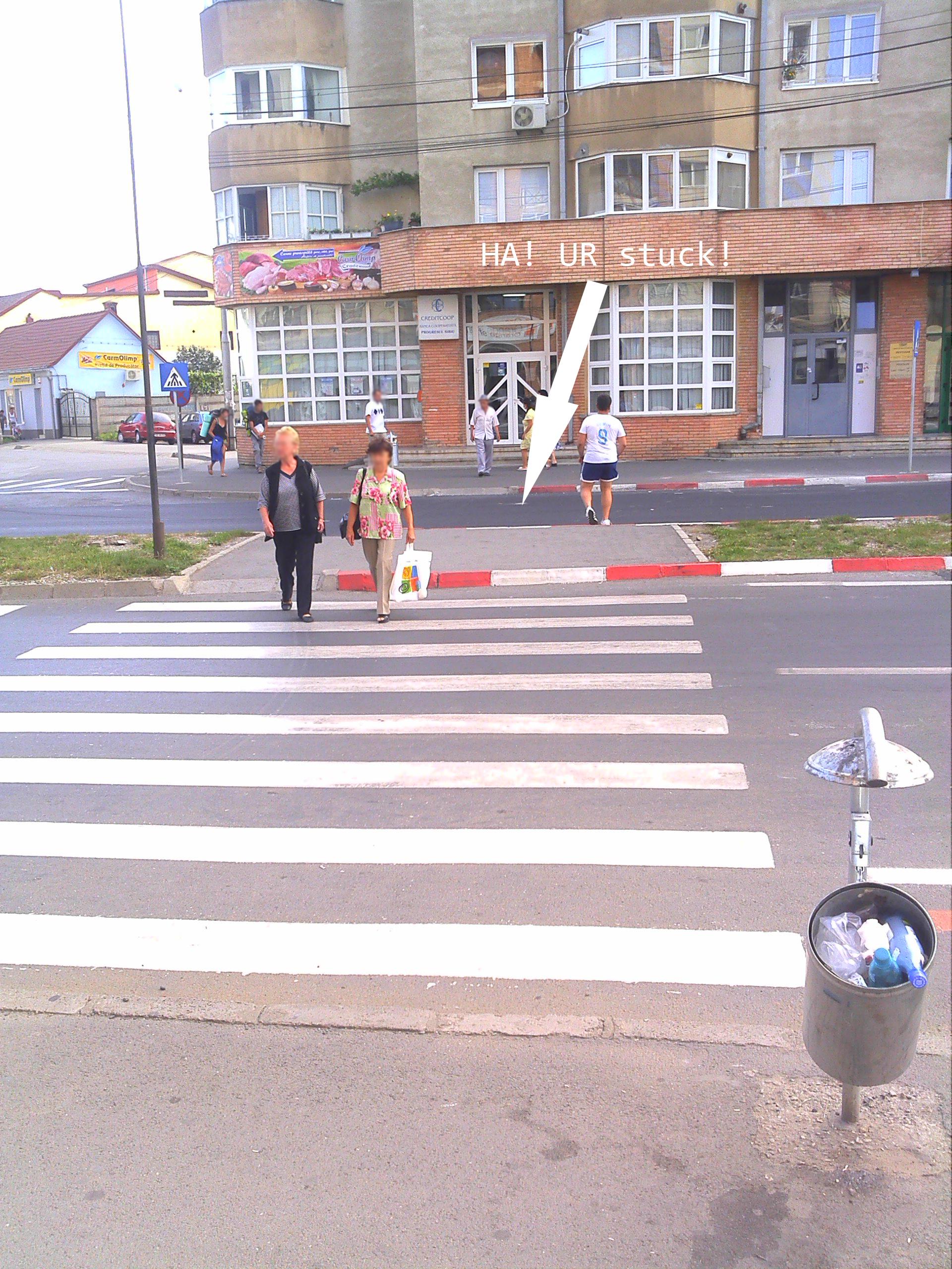 Missing zebra crossing