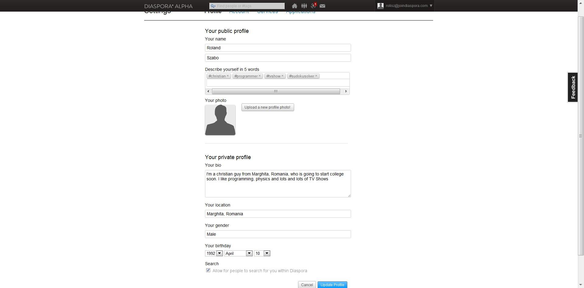 Diaspore registering
