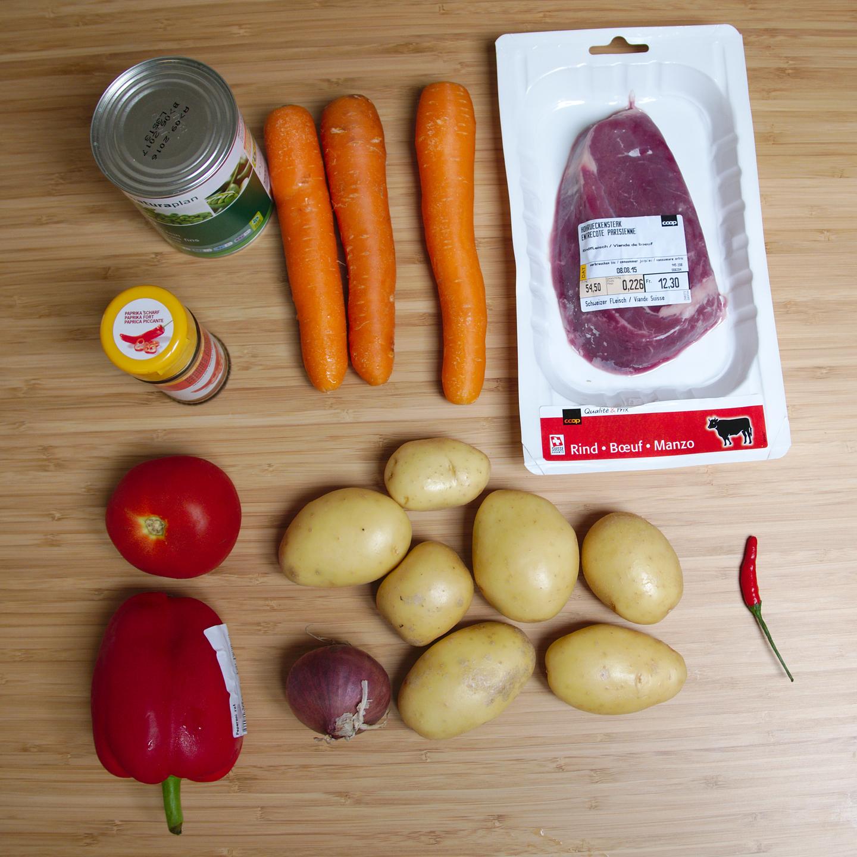 Gulyas ingredients