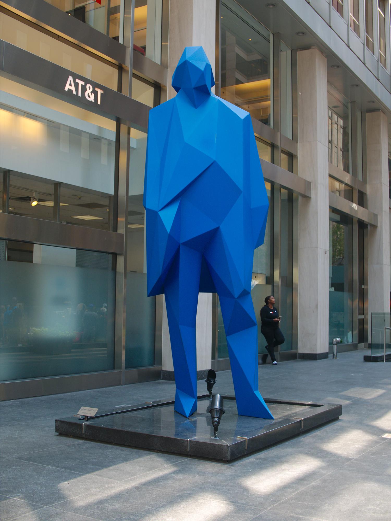 Big blue statue