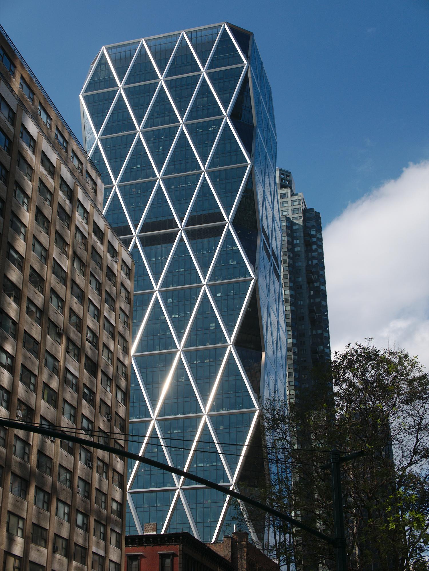 Criss-crossed building