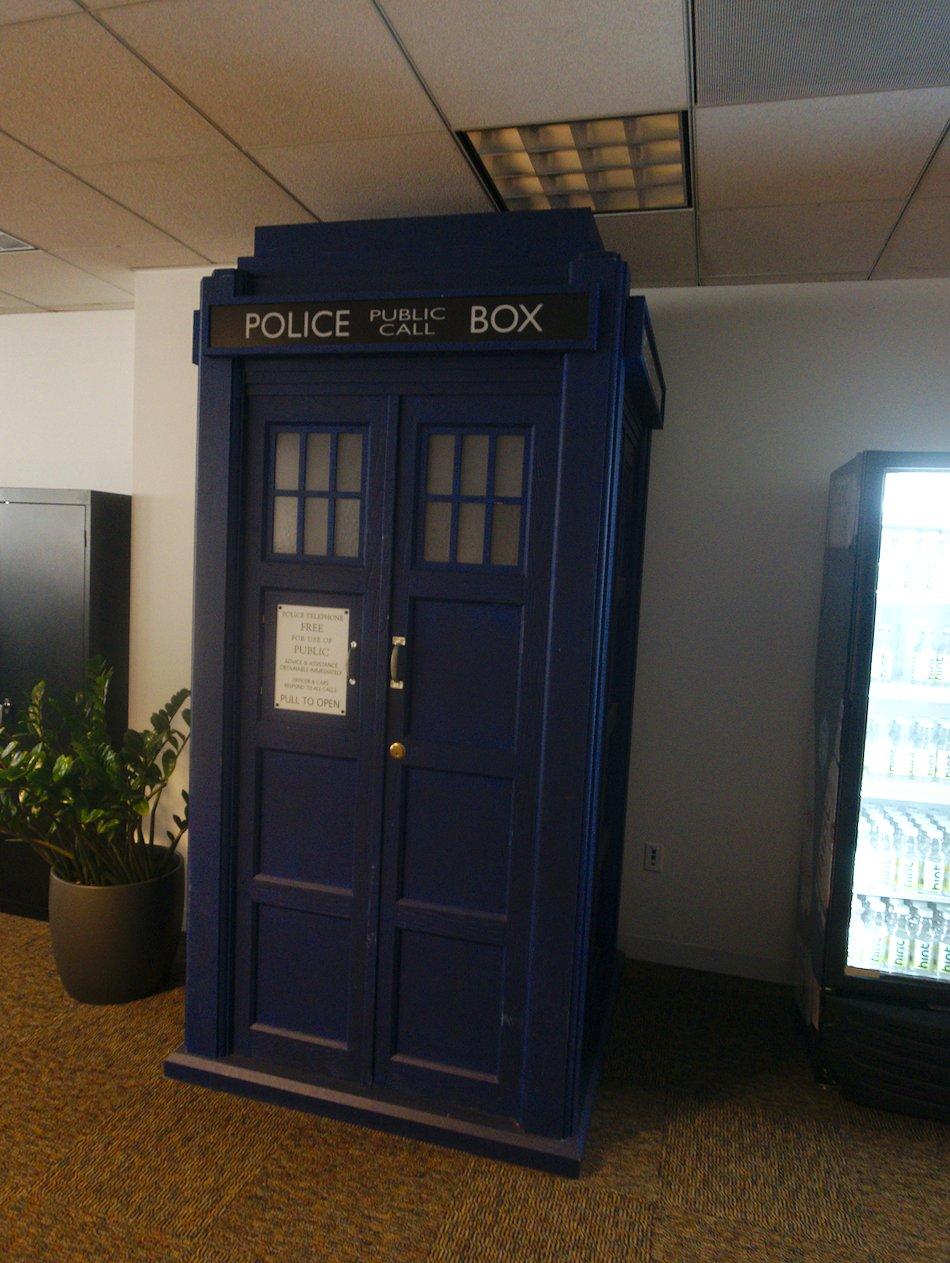 Tardis in the Google SF office