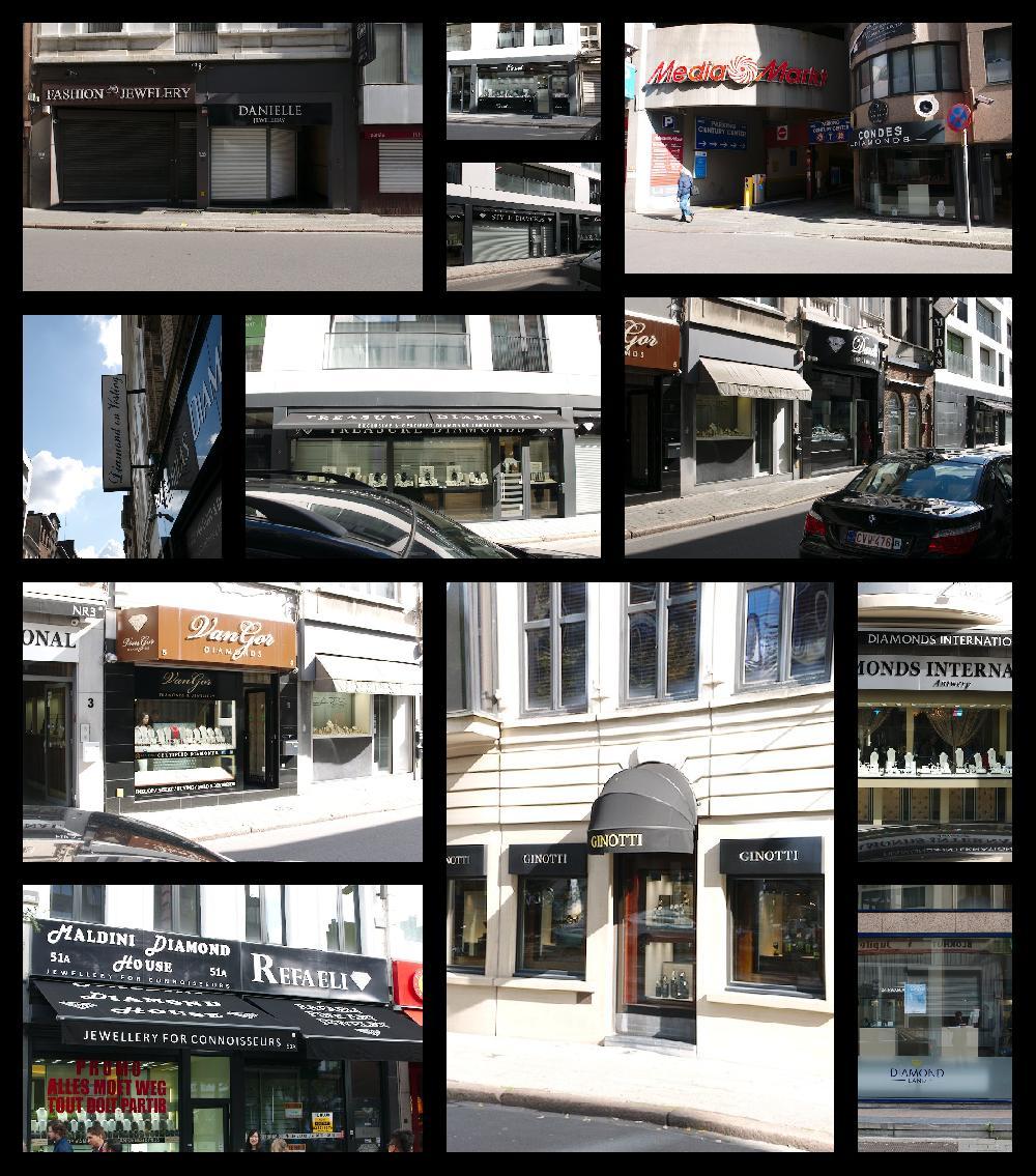 Diamond shops in Antwerp