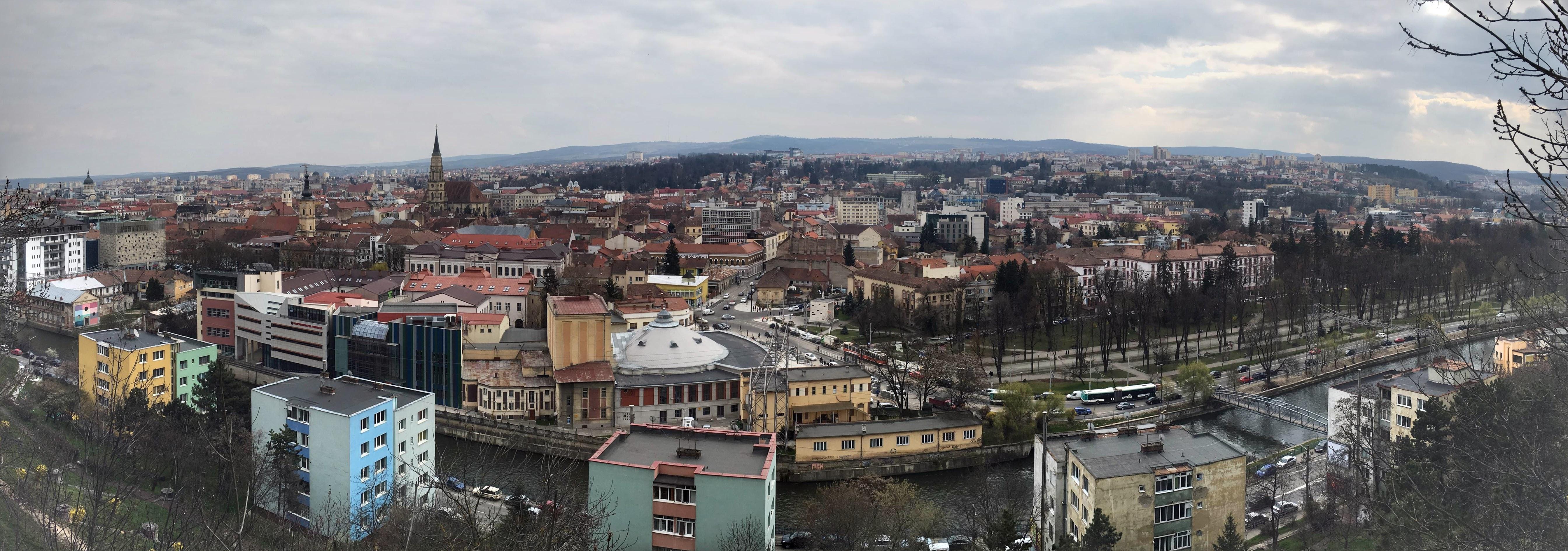Cluj panorama from Cetatuie