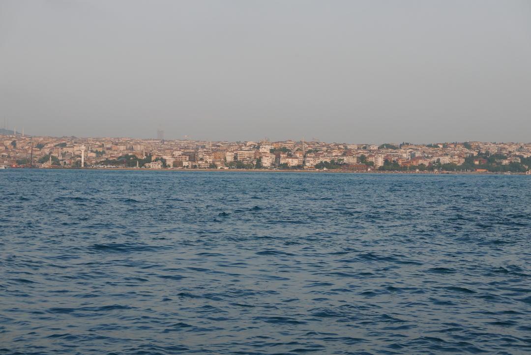 Looking across the Bosphorus