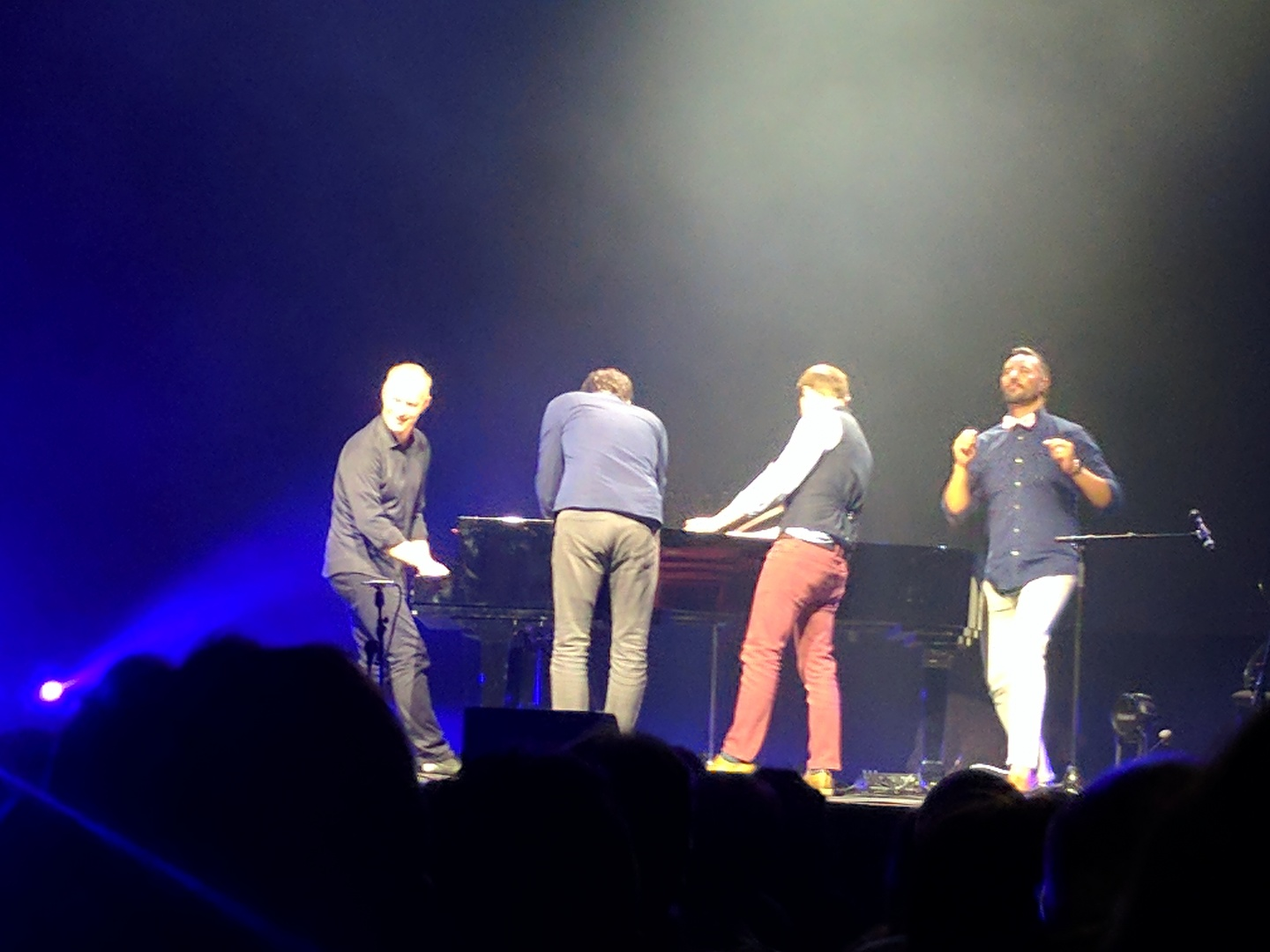 The four of them abusing the piano
