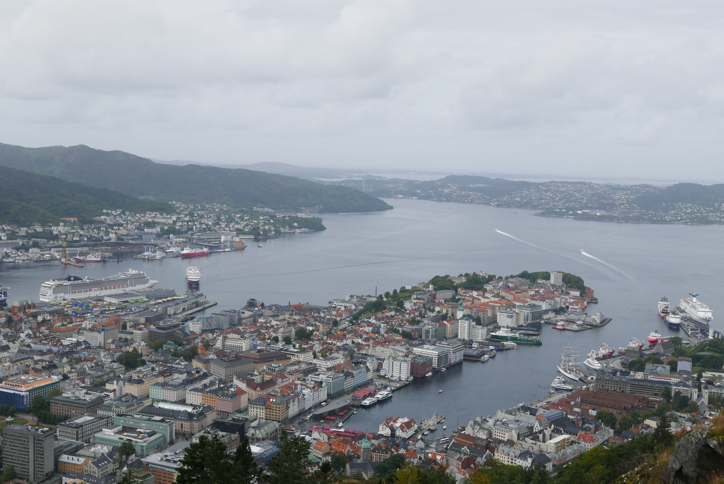 View of Bergen from above