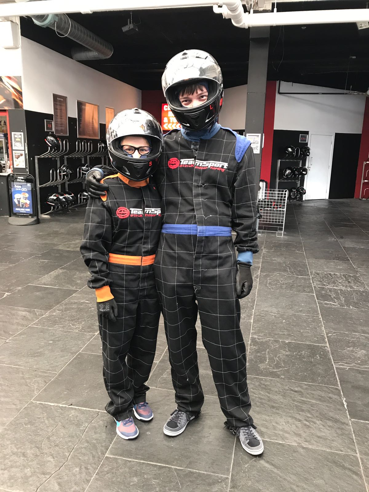 Karting with my wife