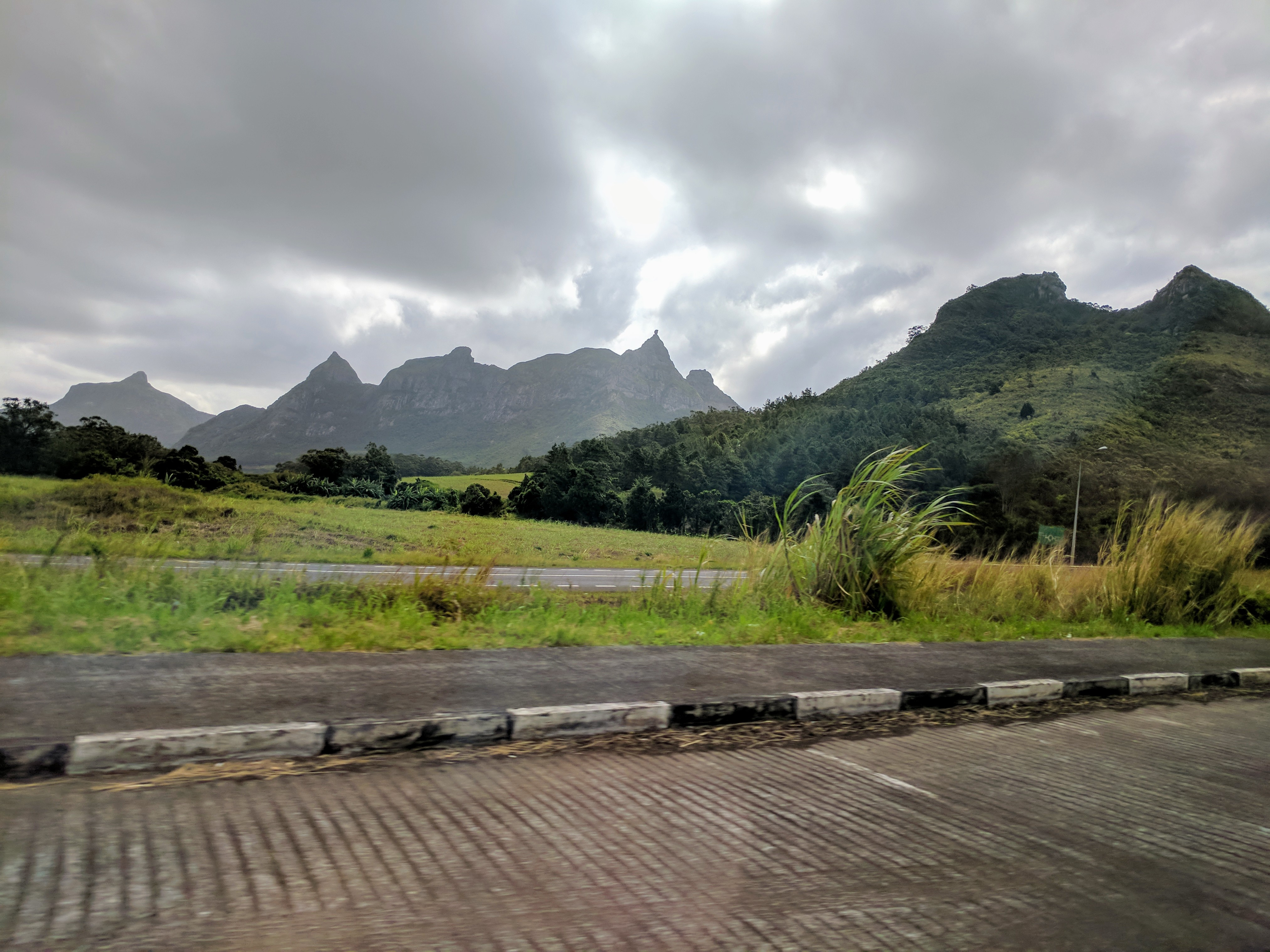 On the highway in Mauritius