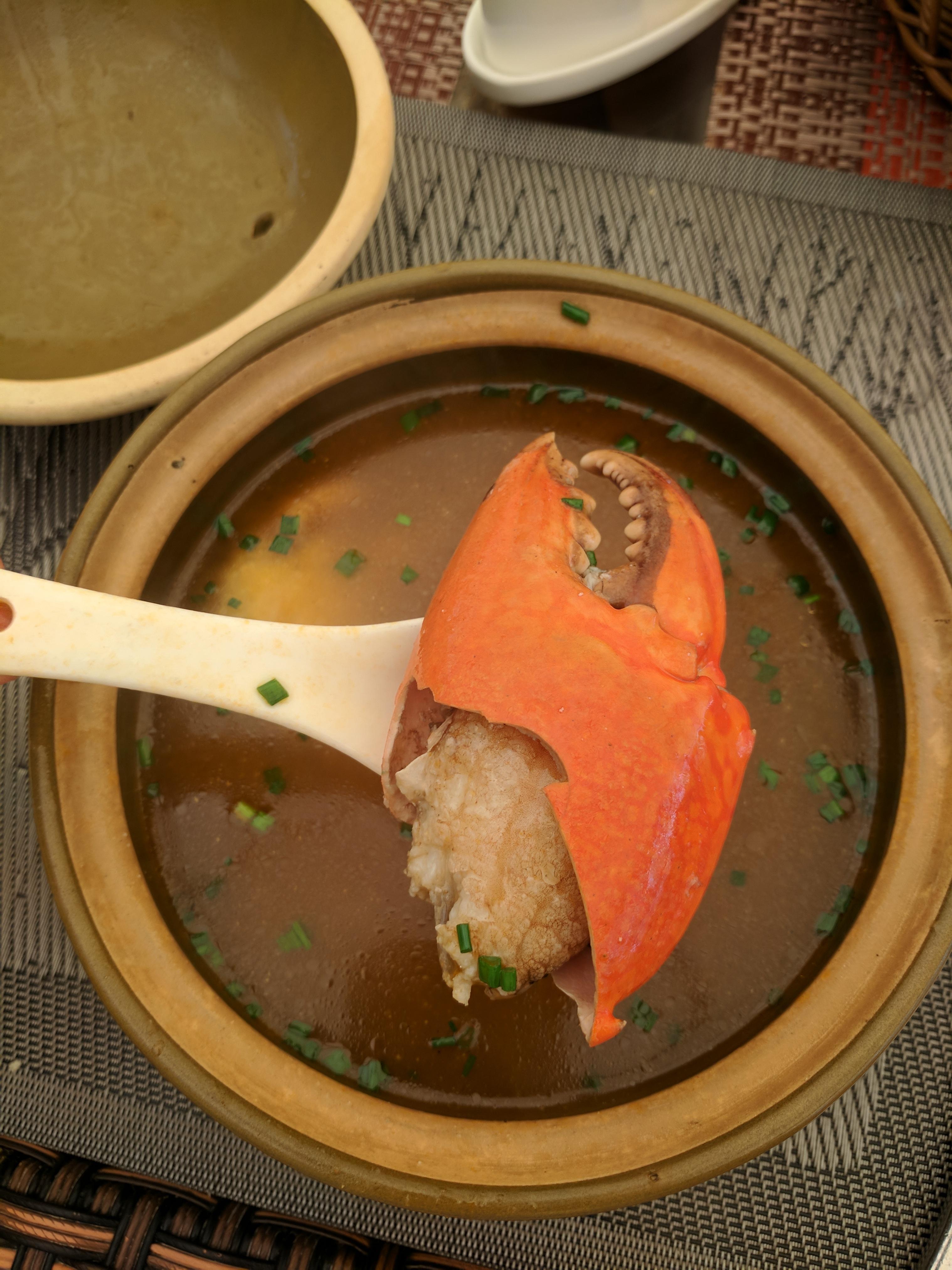 Delicious crab soup