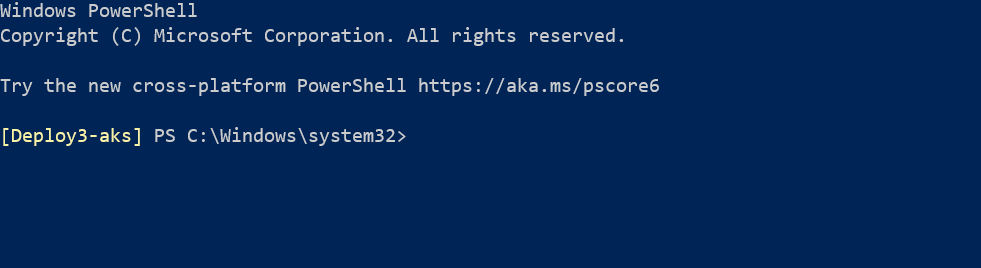 Showing current Kubernetes cluster in Powershell prompt